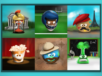 Slot machine icons slot machine icons 3d funny realistic digital painting character design