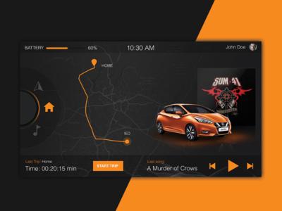 UI -  Hmi Concept music navi black orange ui ux design hmi infotainment car