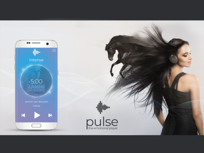 UI and Visual for a Music App pulse listen music hair emotional passion horse visual music app