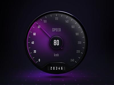 UI Speedometer rpm speedo clock skeumorphic infotainment car ui instrument speedometer hmi