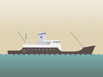 Old ferry illustration boat flat design ship personal project akraborgin