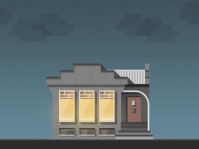Old Pharmacy illustration night pharmacy house