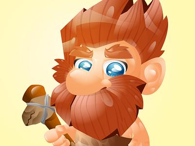 caveman characters mascot character branding logo children book illustration story book character avatar animation illustration characterdesign