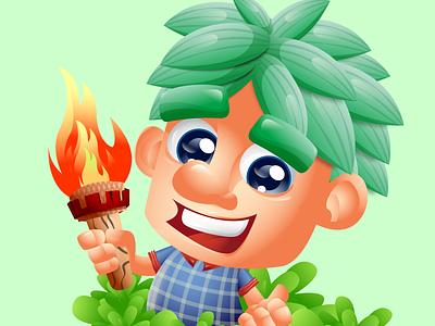 LUCAS THE RUINS MASTER vector logo avatar landing page design mascot character cartoon animation children book illustration characters illustration characterdesign