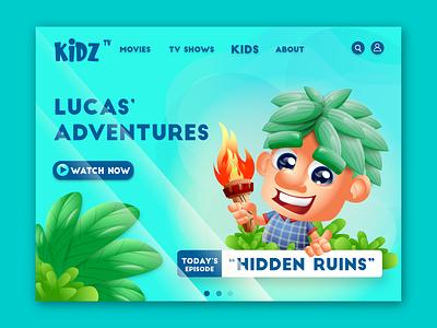 tv show animation webdesign landing page design mascot branding cartoon mascot character vector avatar illustration characterdesign