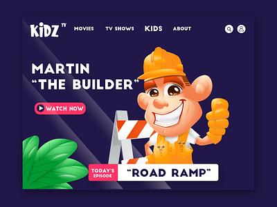 "Martin ""The Builder"" mascot cartoon childrens illustration branding vector landingpage characters illustration logo mascot character characterdesign"