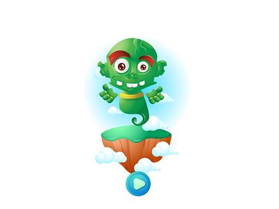 Genie_ZOoom vector logo 2d appgame game gameasset gamecharacter 2d character 2dcharacters 2danimation design characters illustration characterdesign