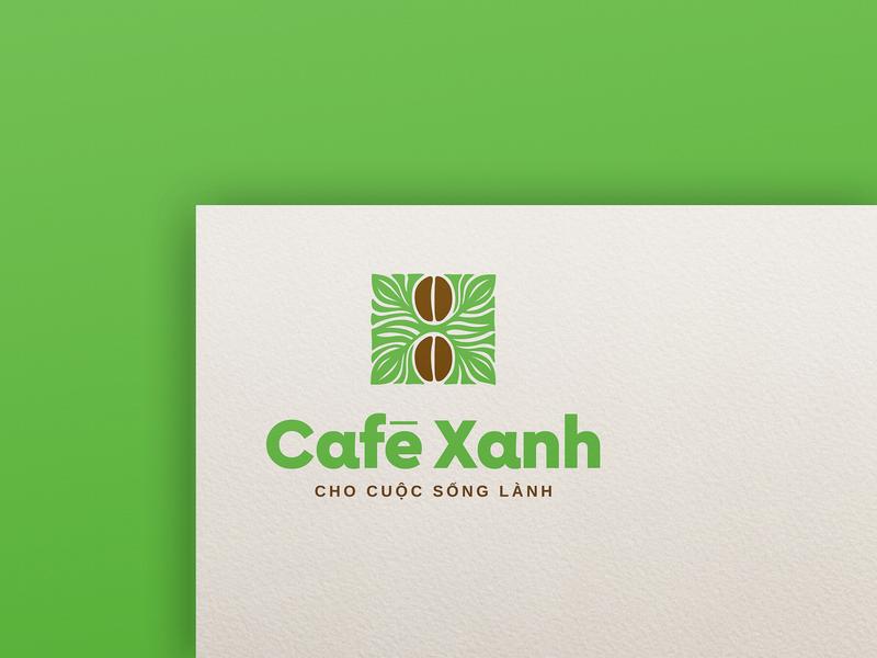 Café Xanh brand icon typography type logo lettering identity design branding brandidentity