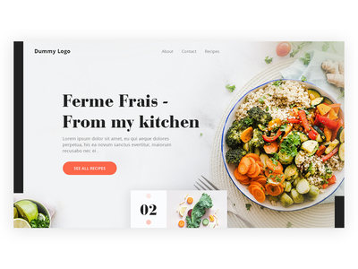 Restaurant landing page web lettering ux challenge typography user interface food lover images design website food ux ui