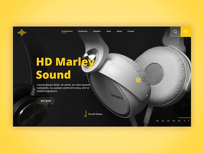 Headphone Dribbble online shopping headphones photoshop illustrator image editing images adobe xd web minimal lettering website branding design ux ui