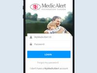 MedicAlert login