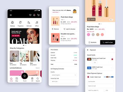 Makeup, Cosmetics Online Shopping simple design ui designer minimal dribbble creative clean makeup app onlinestore mobile ui ecommerce onlineshop ui design