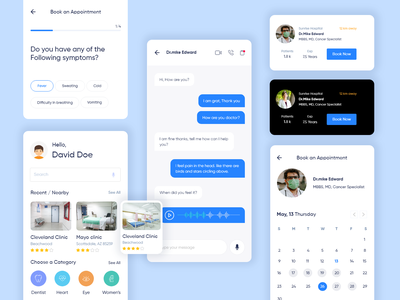 Telemedicine  Mobile app adobe clean ui creative design medical homepage chat products doctor app product product design mobile ui healthcare medical app telemedicine