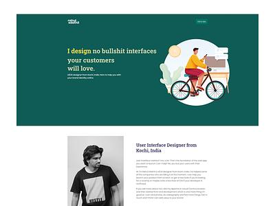 Personal Website clean branding ui simple design portfolio minimal landingpage creative designer ui design
