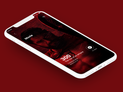 Movie and Music Play film mobile app dribbble best shot typography concept minimal simple design creative design adobe clean designer ui design bestshoot dribbble mockup movie app music app landing page app