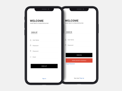 Login and Sign up Design dribbble best shot white white background signupform login form form signup login mobile app minimal simple design concept creative design dribbble web design clean ui design adobe designer