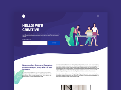 Landing Page Ui Design adobe ux vector inspiration blue web design business simple design minimal concept clean illustration typography portfolio ui dribbble best shot landingpage creative ui design designer