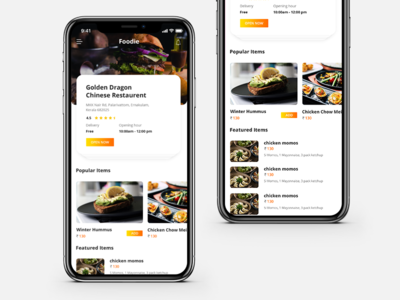 Food Delivery App mobileui design business concept minimal mobile app simple design inspiration adobe dribbble best shot ui clean landingpage web design creative portfolio ui design dribbble illustration designer