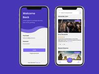 Mobile app concept designs