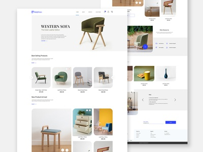 Landing page for Furniture and decor Shop clean app landing clean  creative furniture website furniture design website design portfolio inspiration concept web design clean creative simple design minimal landingpage ui dribbble adobe ui design designer