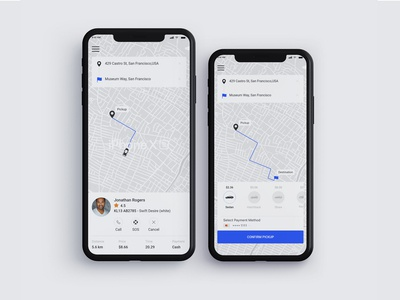 Mobile app - Concept Designs ux business blue simple design landingpage inspiration ui concept vector taxi booking app taxi app portfolio clean dribbble best shot minimal creative dribbble adobe ui design designer