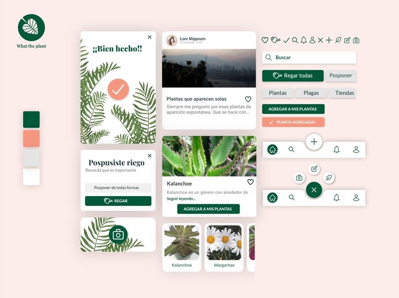 UI kit app design plants adobe xd visual design ux  ui ux design user inteface ui kit ui design ui