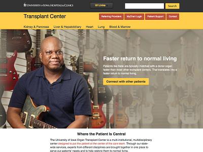 transplant Center Website website web design healthcare ektron