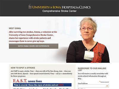 Stroke Month Website html website medical healthcare