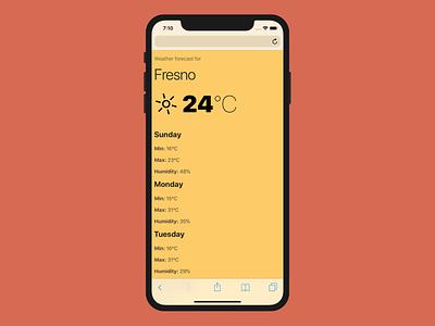 YAWA weather app weather