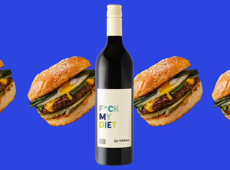 Lost Inhibitions branding brand identity packaging design humour prick cactus edgy burger funny wine label copywriting winery canada cheeky packaging