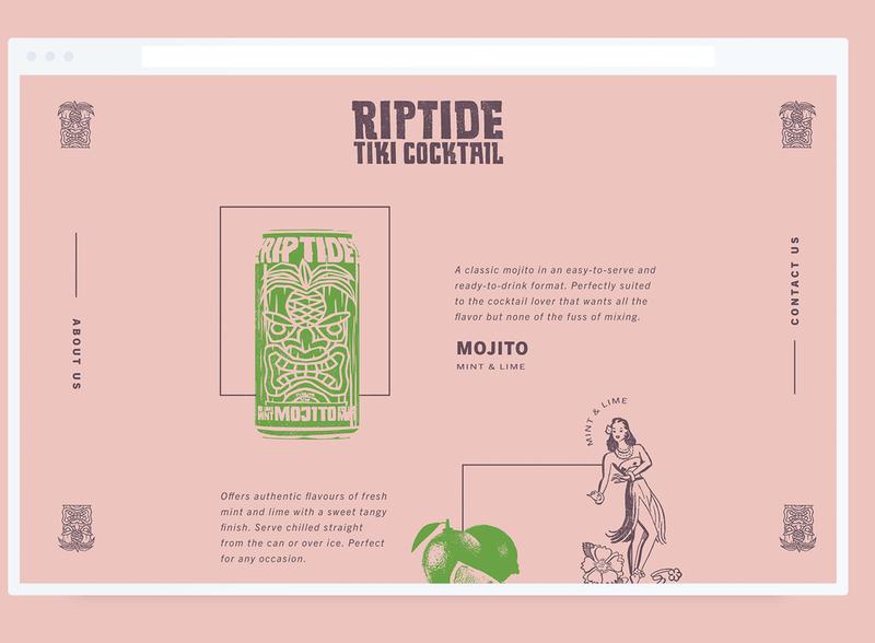 Riptide Tiki Cocktail Website ui website beverage tiki retro design retro