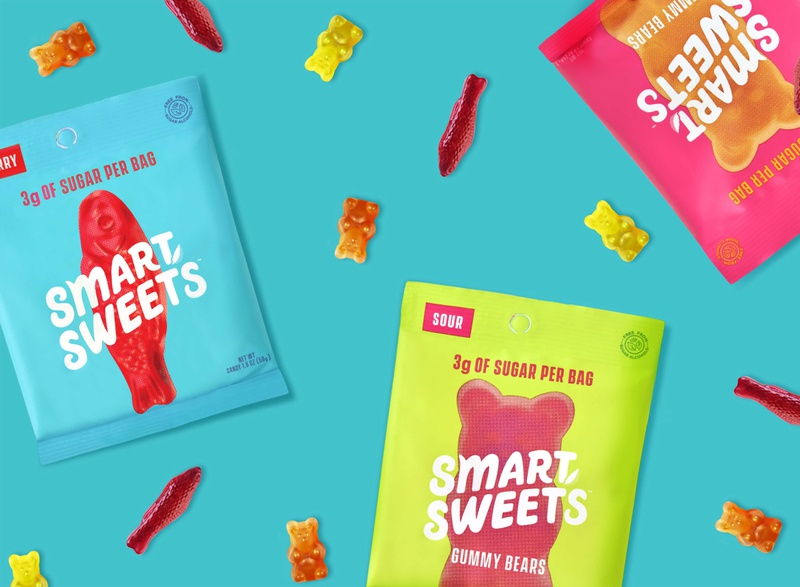 Smart Sweets brand identity canada health sweet candy packaging