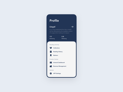 Setting page for APP settings ui gray app daily ui 007 dailyui