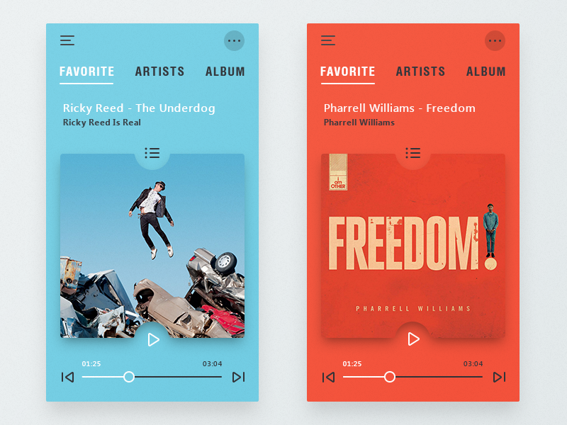 Music Player Adaptive color