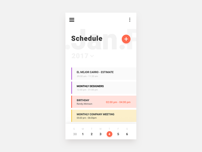 Schedule calendar schedule ux user ukraine ui ua interface