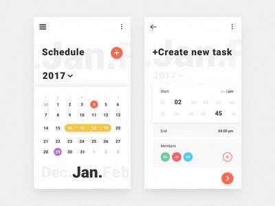 Schedule free ui inspiration interface ukraine user ux schedule calendar