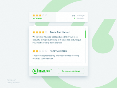 Revision widget professionals ua xperience bage review star rating web ux user ui widget