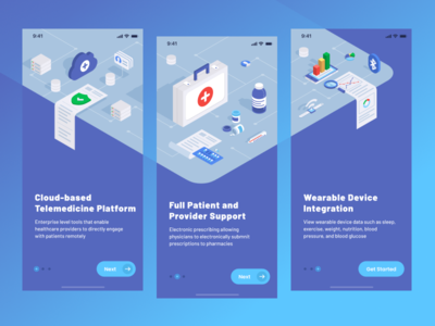 Telemedicine Onboarding healthcare app health app medicine healthcare medtech telemedicine figma onboarding typography vector illustration mobile app interface design