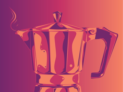 Moka pot illustration