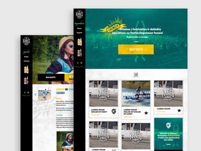Kanessoda campaign website design