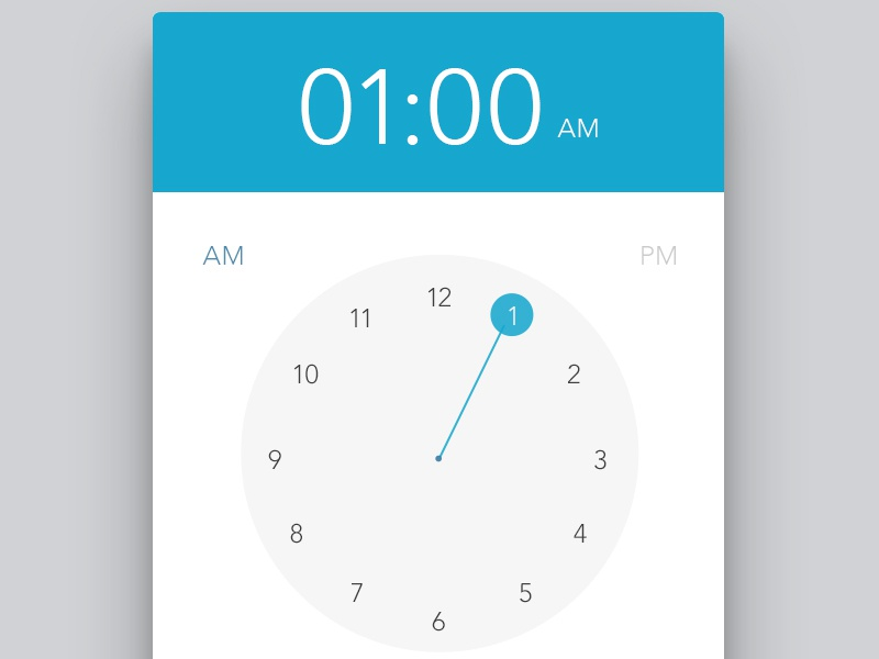 Alarm mobile ui ux time watch alarm widget mobile aap ui