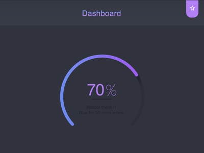 Fitness app dashboard widget