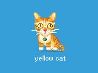 Pixeled little yellow cat