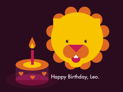 Happy Birthday Leo By Cheng On Dribbble