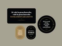 DE stickers inspirational marketing stickers badge badge design badges design mark icon costa rica logo logotype identity branding