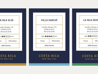 Labels for La Isla label design empaque modular specialty coffee coffee label packaging mark logo costa rica logotype identity branding
