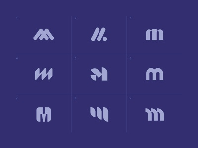 Letter M mark logo personal branding iconography geometric costa rica branding identity logotype type typography letter