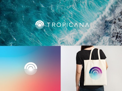 Tropicana costa rica icon logo logotype mark custom font tropicalia brand identity identity branding sun