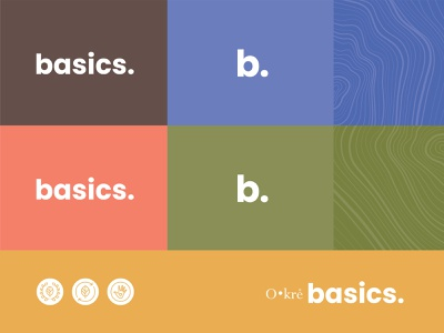 Okre Basics color palette brand identity hand crafted wood illustration icon mark logo costa rica logotype identity branding