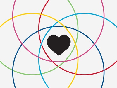 Love For Colors branding mark heart love rgb cmyk logo icon color